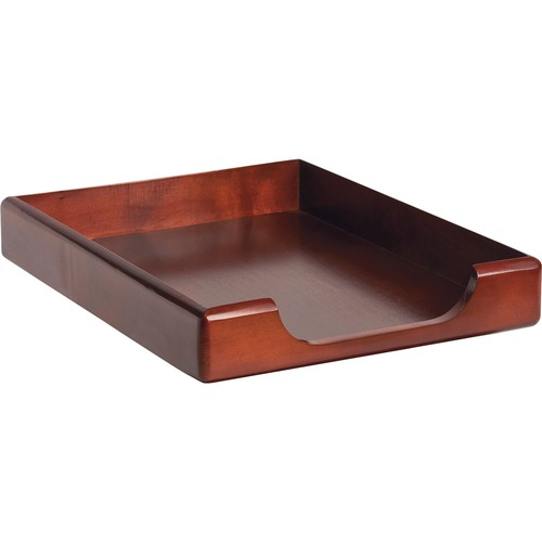 Rolodex Wood Tones Front-Loading Tray ROL23350