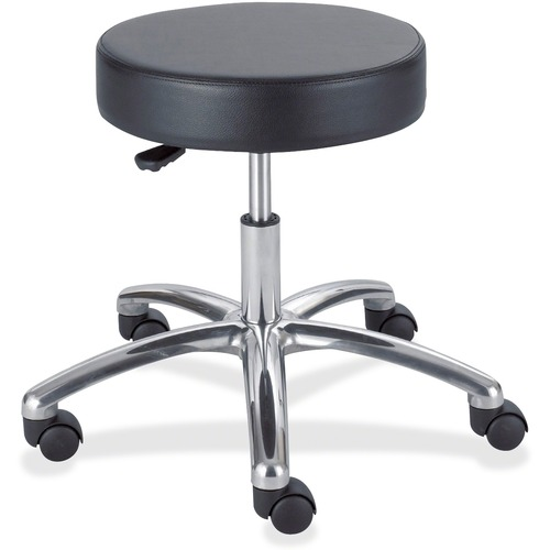 SAFCO 3431-BL SAF3431BL  LAB STOOL PNEU NO BACK  *BLACK