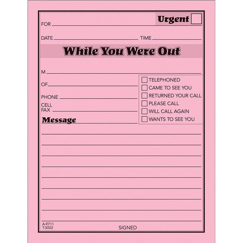 TOP3002P TOPS Important Message Note Pads