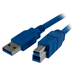 Image of StarTech.com 10 ft SuperSpeed USB 3.0 Cable A to B - M/M - Type A Male USB - Type B Male USB - 3.05m - Blue