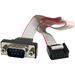 Image of StarTech.com 16in 9 Pin Serial Male to 10 Pin Motherboard Header Panel Mount Cable - for Motherboard - 16 - 1 Pack - 1 x DB-9 Male Serial - 1 x IDC Female Serial - G