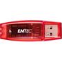 EMTEC C400 4 GB USB 2.0 Flash Drive - Red - 9 Pack