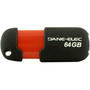 Dane-Elec Capless 64 GB USB 2.0 Flash Drive - Black, Red