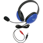 Califone Blue Stereo Headphone w/ Mic Dual 3.5mm Plug Via Ergoguys