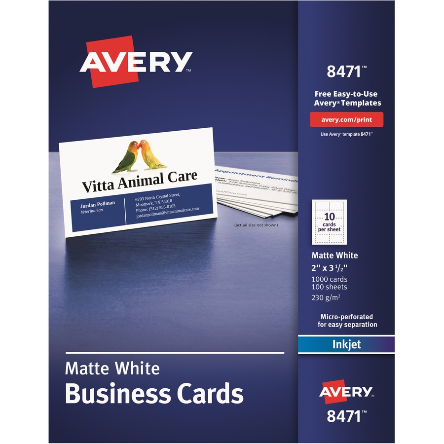 Avery business card ml h computer services inc averyreg business card ave8471 reheart Gallery