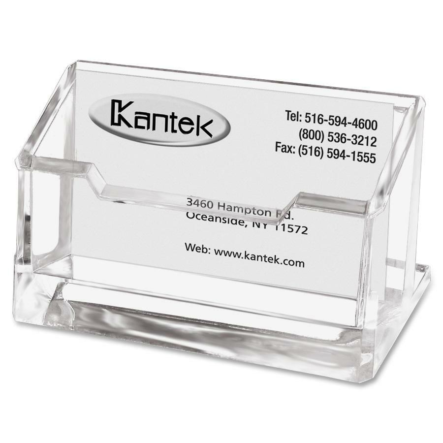Kantek Acrylic business Card Holder - ICC Business Products - Office ...