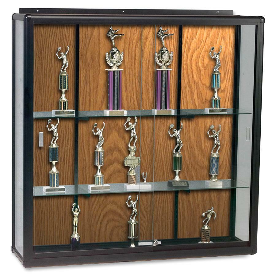 balt wall mount display case blt90w8610. Black Bedroom Furniture Sets. Home Design Ideas