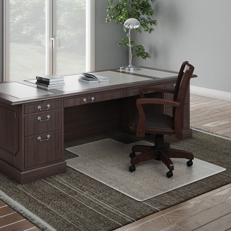 deflecto execumat wide lip high pile chairmat carpeted floor 53