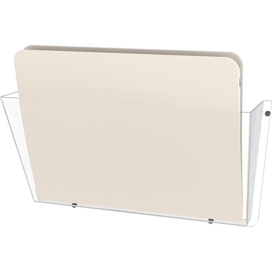 Deflecto Unbreakable Plastic Wall Pockets DEF63201