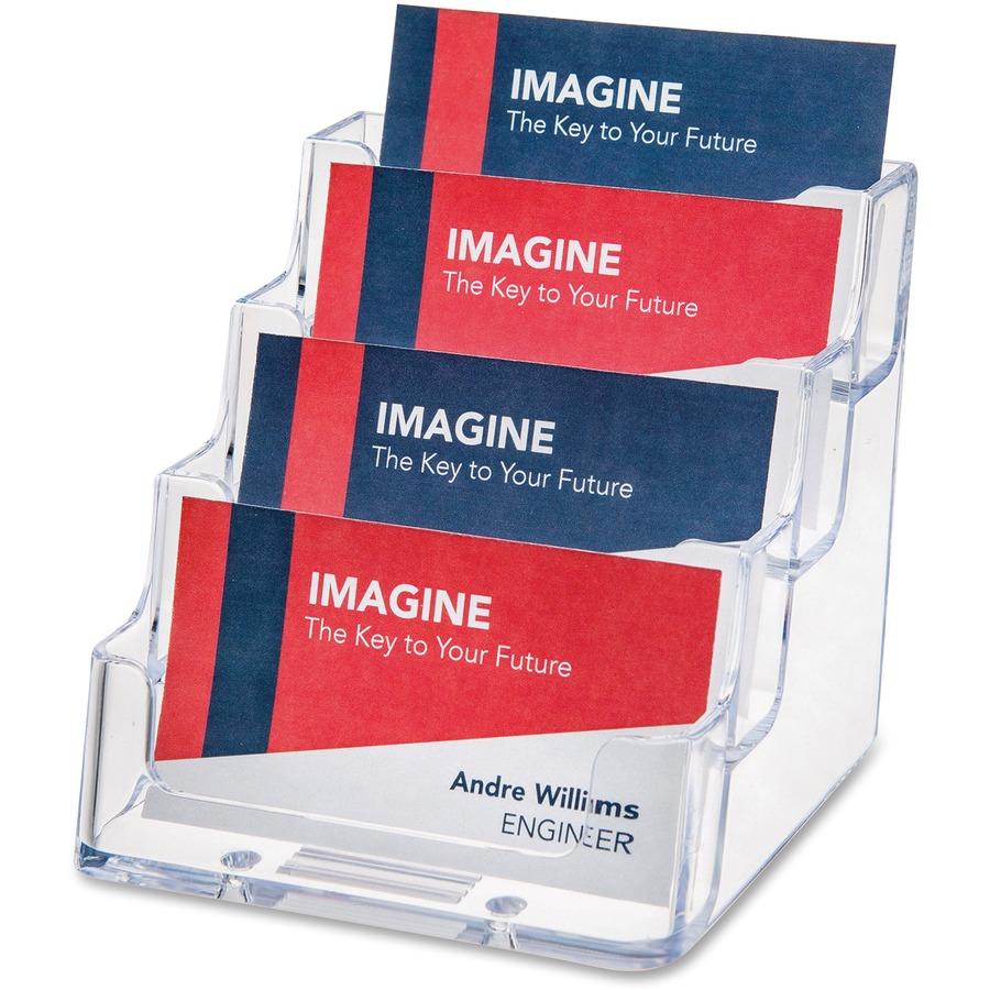 deflecto 4-Pocket Desktop Business Card Holder - Direct Office Buys