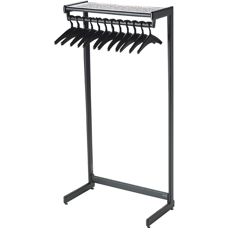 quartet one shelf garment rack freestanding 36 black. Black Bedroom Furniture Sets. Home Design Ideas