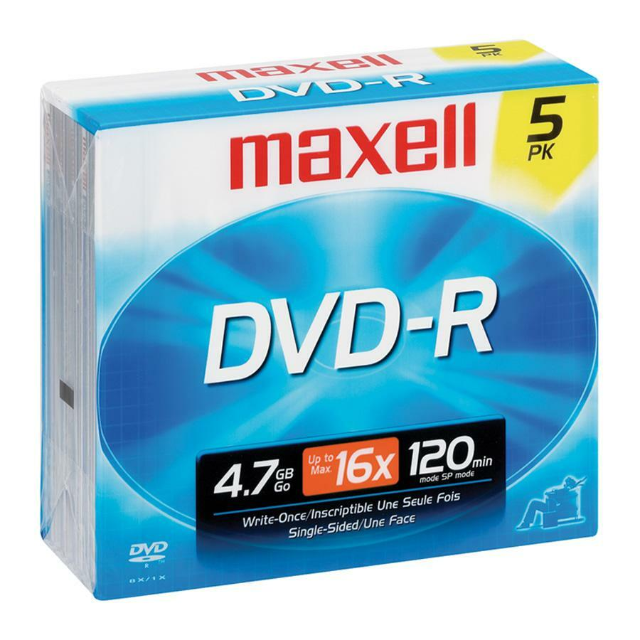 Verbatim dvd rw 4 7gb 4x with branded surface 30pk spindle 4 7gb - Maxell Dvd Recordable Media Dvd R 16x 4 70 Gb 5 Pack