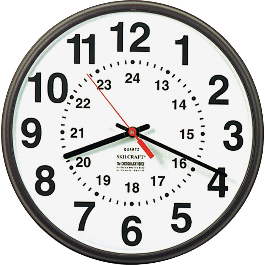 Skilcraft 12 24 Hour Wall Clock Mac Papers Inc