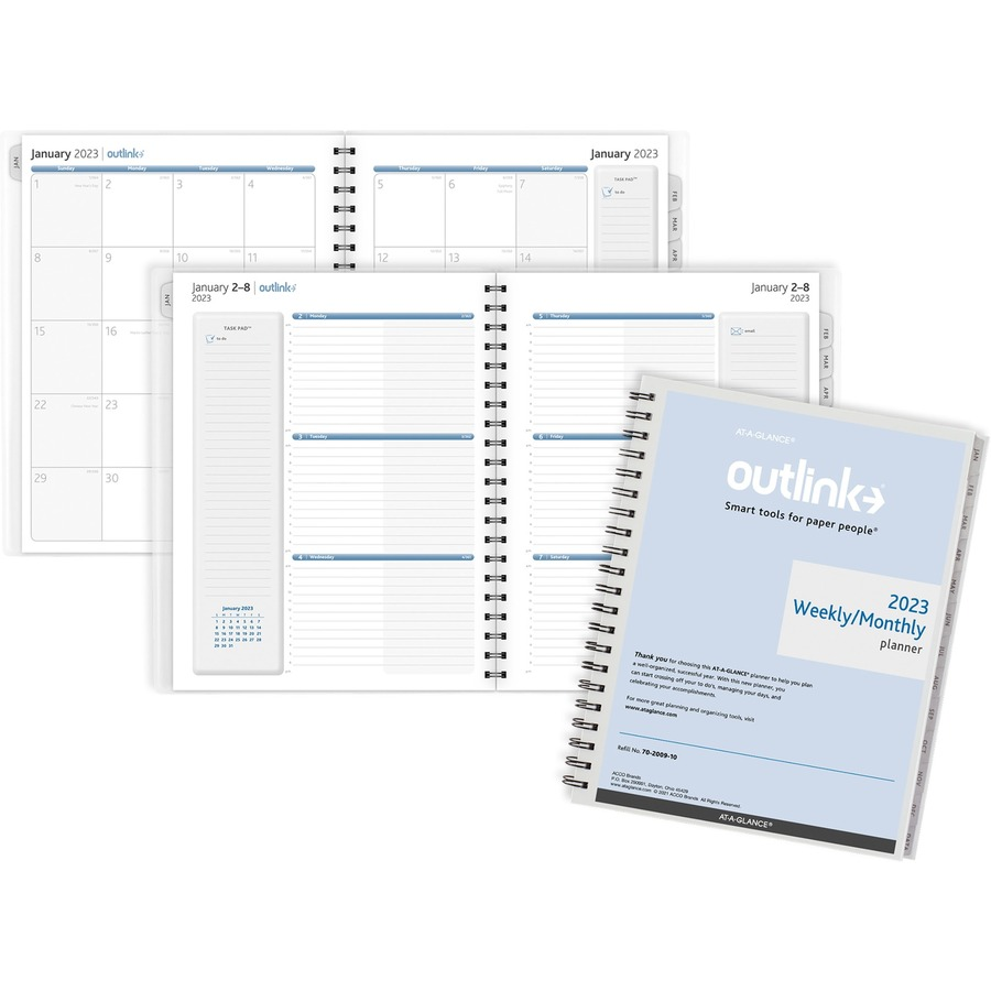 At-A-Glance Outlink Weekly Planner Refill; AAG 70200910 ...