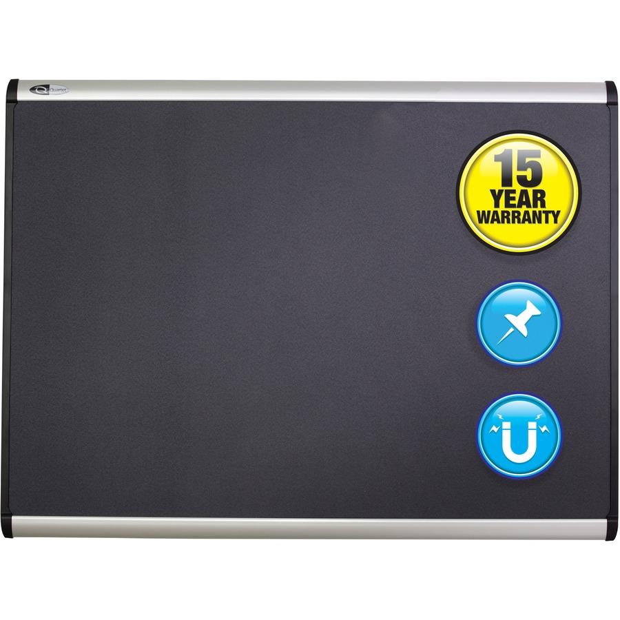 Quartetu0026reg; Prestige Plusu0026reg; Magnetic Fabric Bulletin Board, 3u0027 X 2u0027,