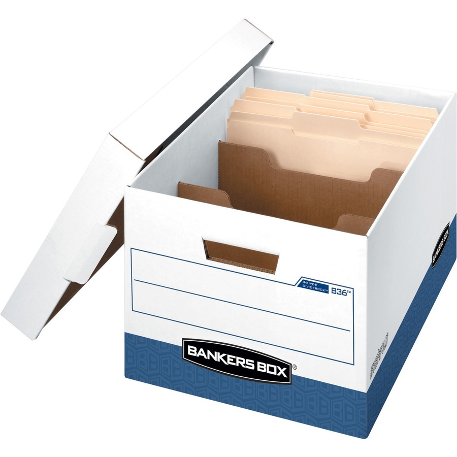 Bankers box r kive ider box stackable medium duty x 12 8 quot width