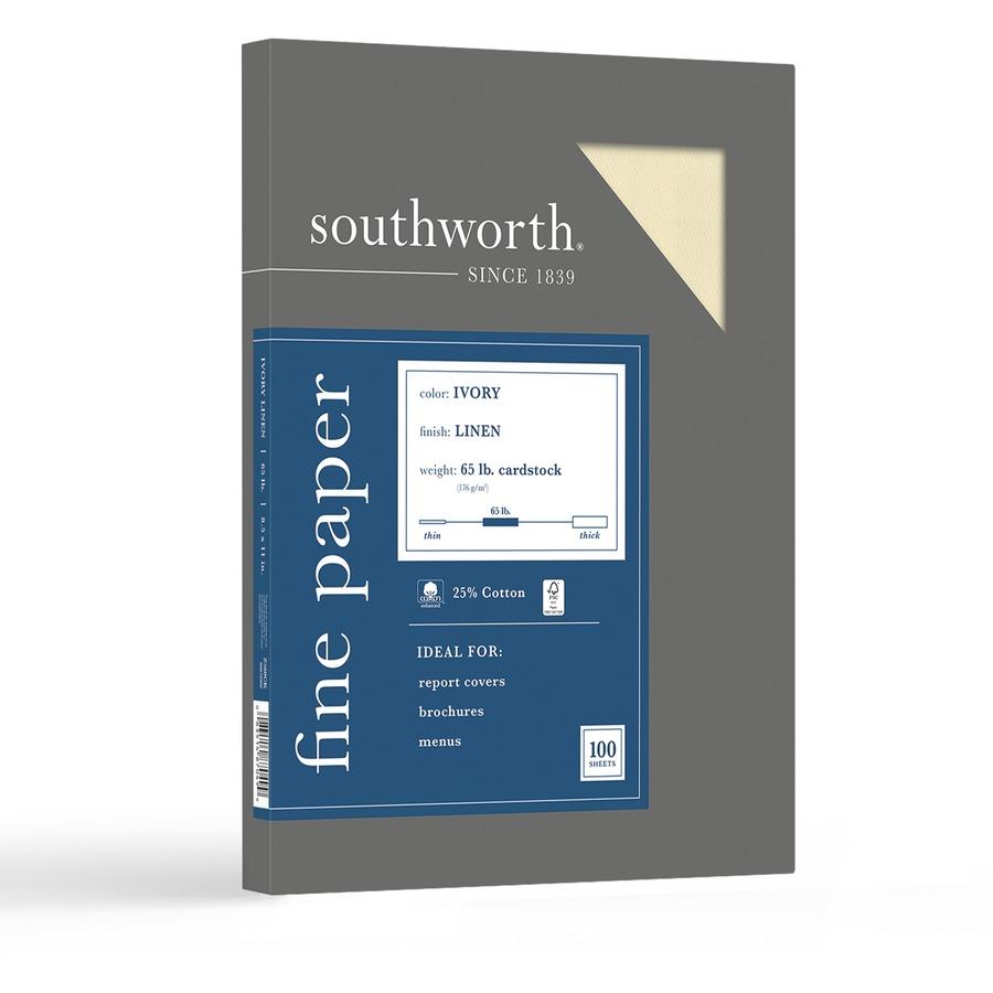 southworth 25 cotton linen business cover stock r amp r