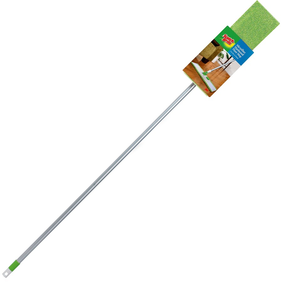 Scotch-Brite Hardwood Floor Mop 1 Each - Green, Silver