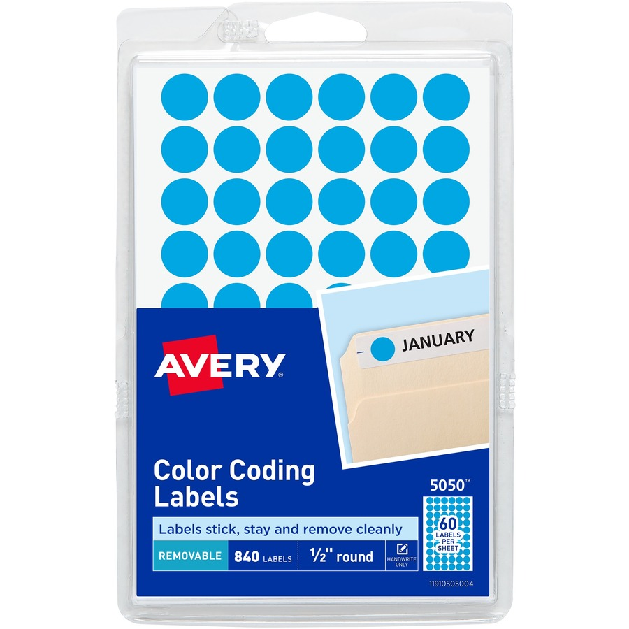 Custom Card Template avery stickers : Avery 1/2u0026quot; Round Color Coding Labels - The Office Point
