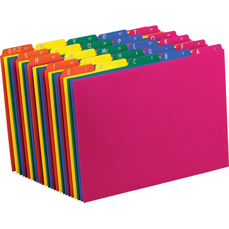 Pendaflex Poly Top Tab File Guide Zerbee
