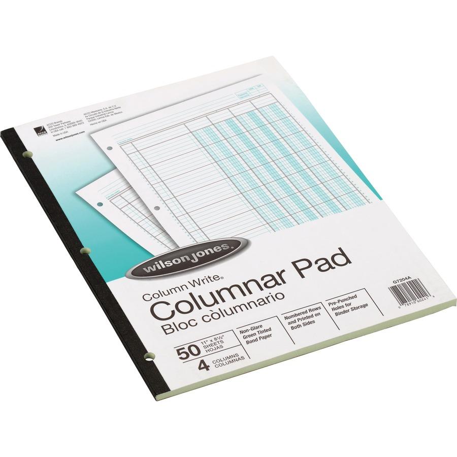 Accounting Columnar Pad