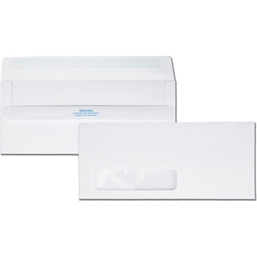Quality park redi seal single window envelope qua21318 for Window envelopes