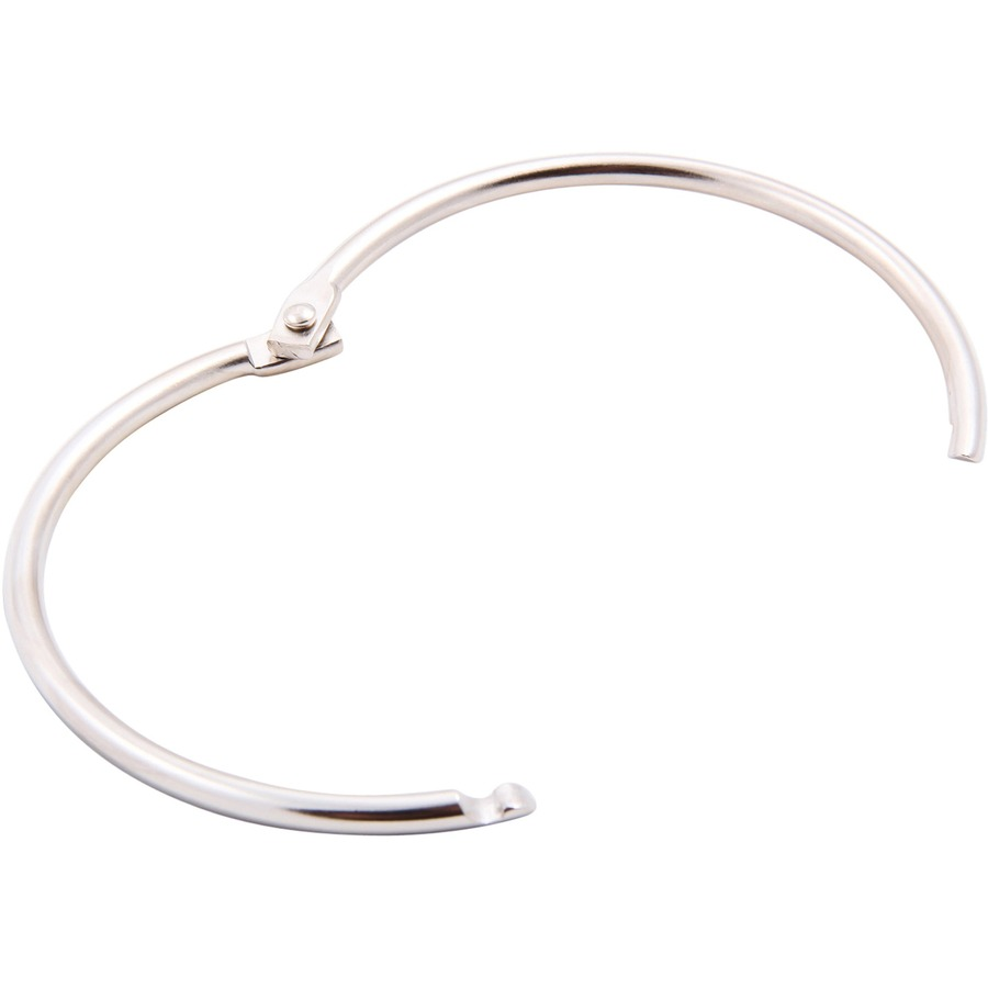 Baumgartens Binder Ring Round - Silver - Metal - 1 / Each