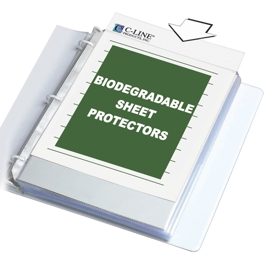 C line line specialty sheet protectors cli62617 for Letter size sheet protectors