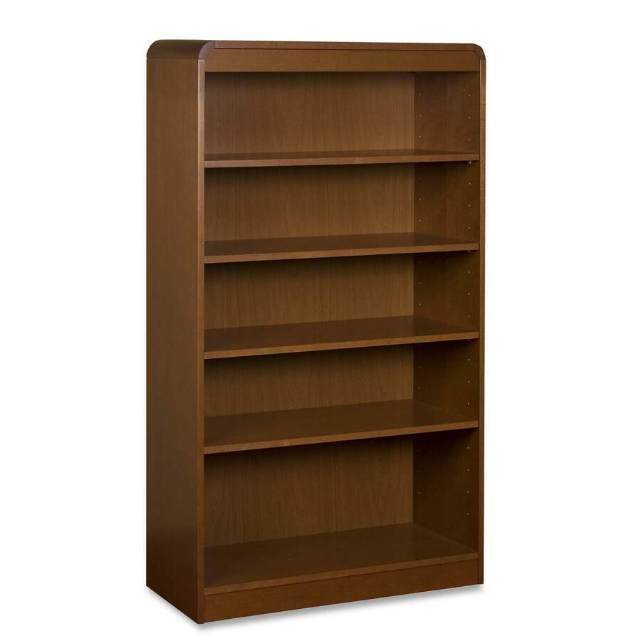 lorell 5 shelves bookcase. Black Bedroom Furniture Sets. Home Design Ideas