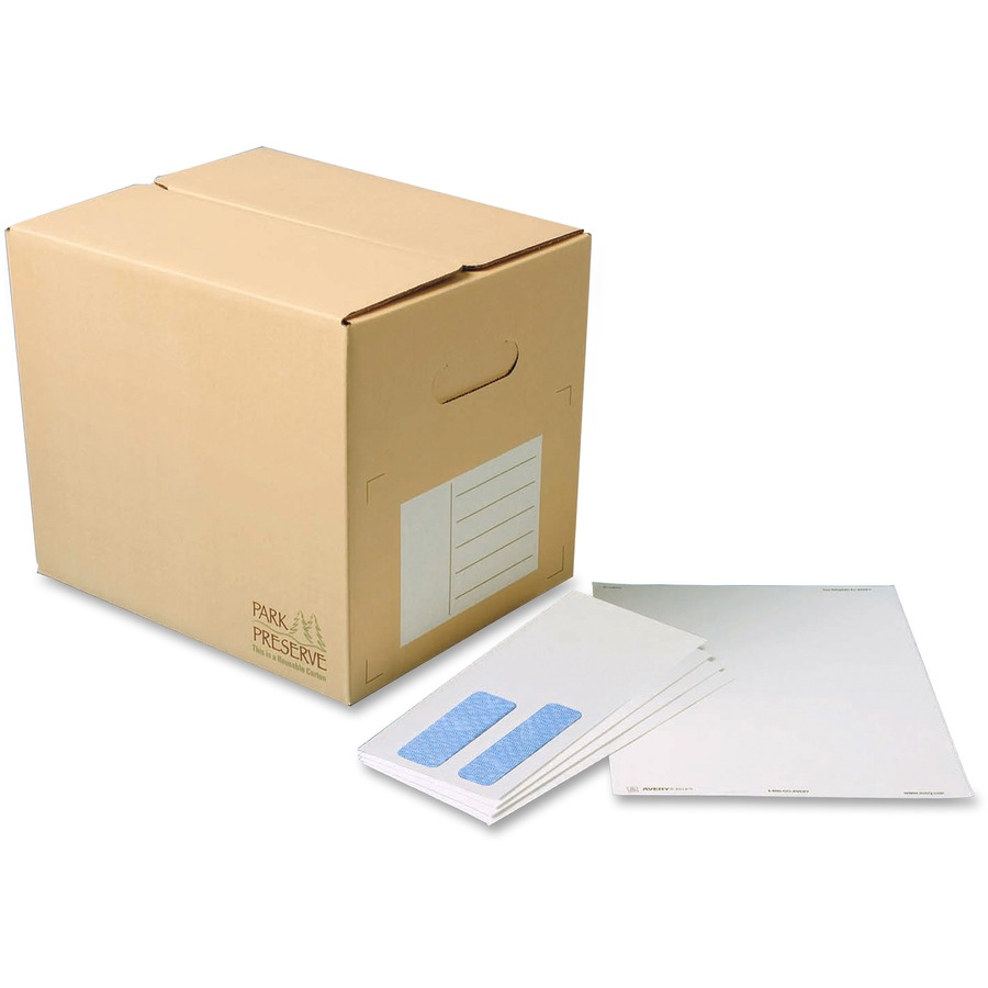 Quality park 24524b quality park double window envelope for Window envelopes