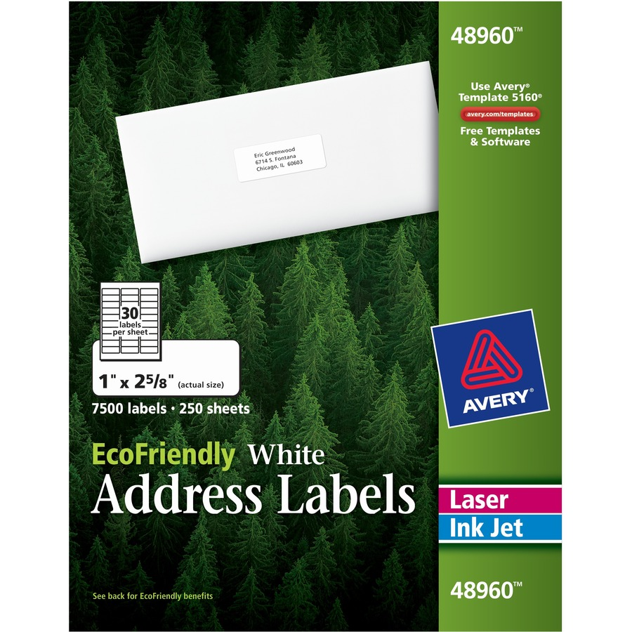 avery ecofriendly address labels kopy kat office
