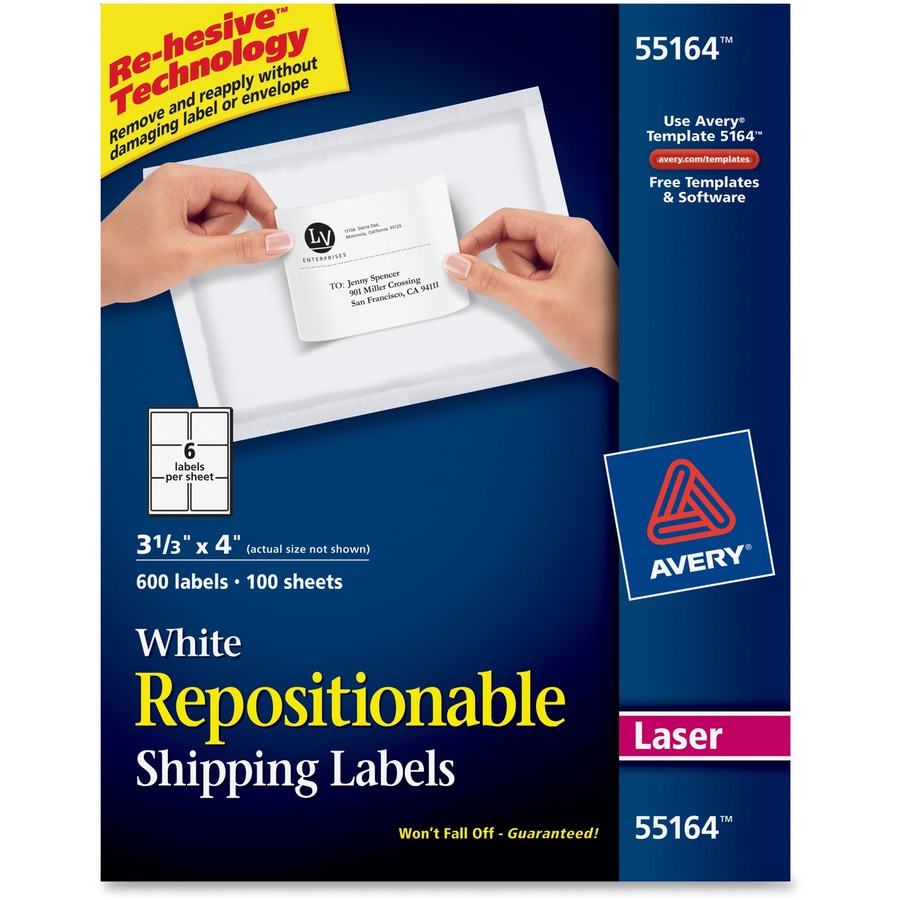 avery repositionable mailing labels r a office supplies