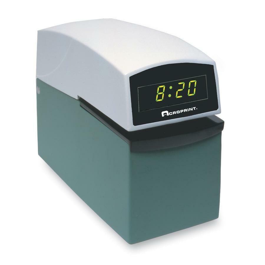 Acroprint E Series Document Control Time Date Electric