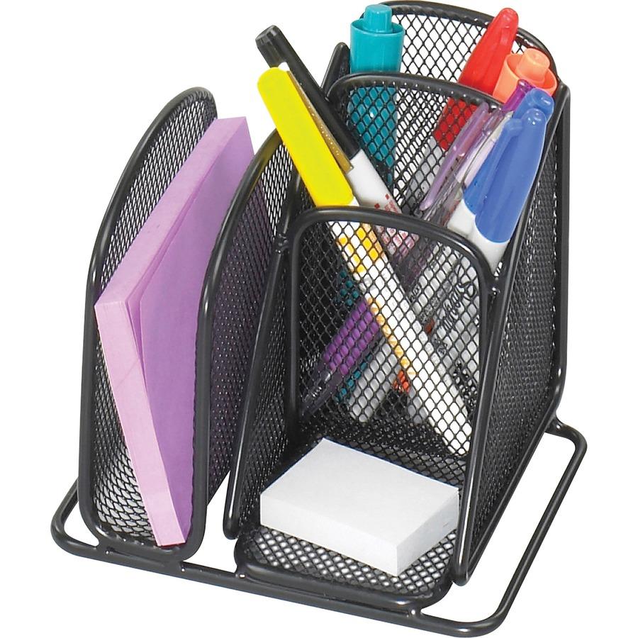 safco onyx mini desk organizer