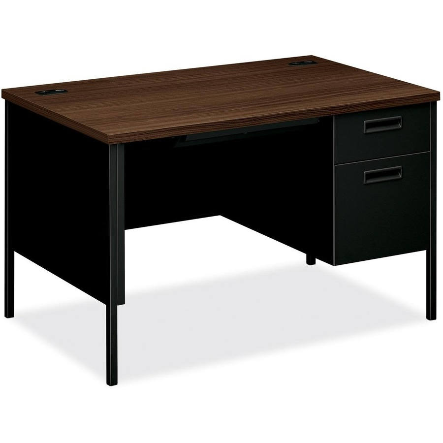 "Pedestal Desk 48"" x 30"" x 29.5"" - 2 x Box Drawer(s), File Drawer"