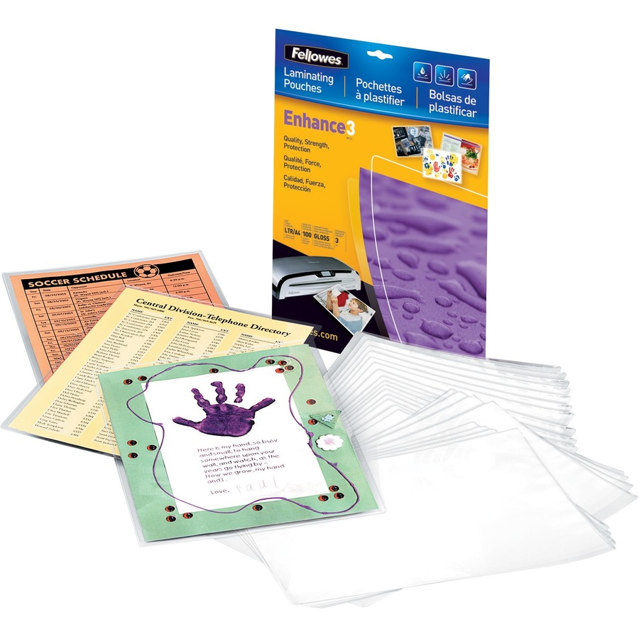 Fellowes Glossy Pouches - Business Card, 5 mil, 25 pack - Direct ...