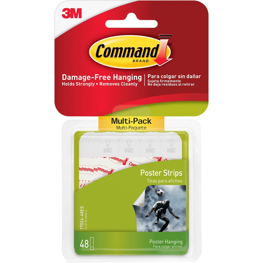 how to put on command strips