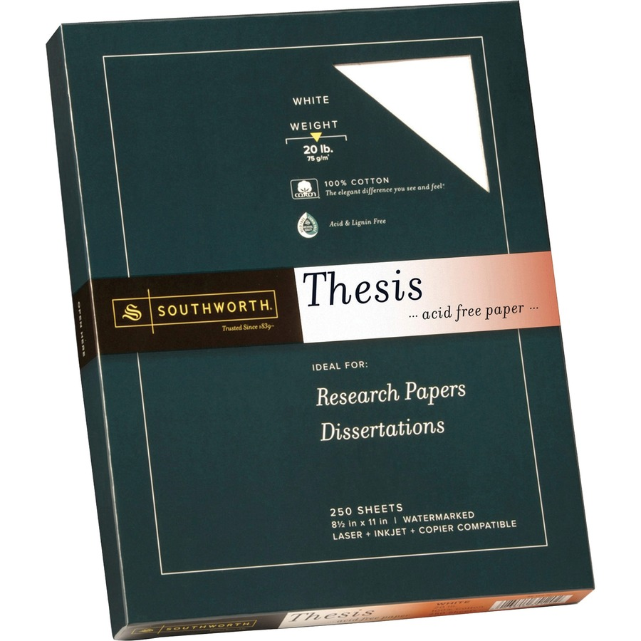 southworth thesis paper 25 cotton Southworth 25% cotton business paper business - #10 - 413 width x 950 length - 24 lb - gummed - linen, cotton fiber - 250 / box - white.