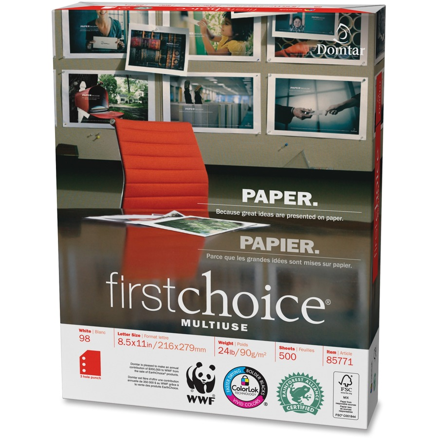 domtar paper Domtar earthchoice office paper ledger paper 20 lb fsc certified ream of 500 sheets, 20 lb paper is ideal for everyday use, 92 brightness for crisp clean text at.