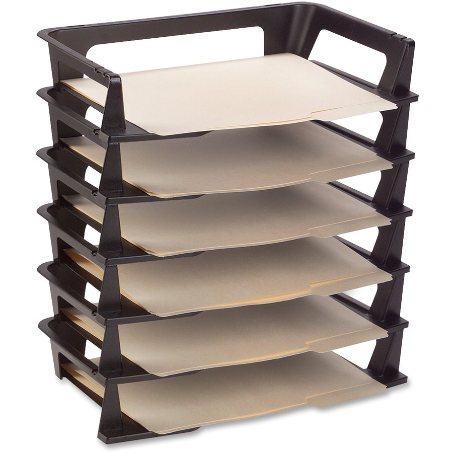 Rubbermaid Regeneration Stacking Letter Trays Rub86028