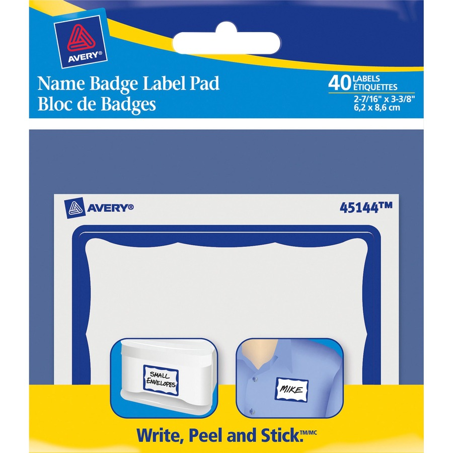 avery name badge label pads tierney office products