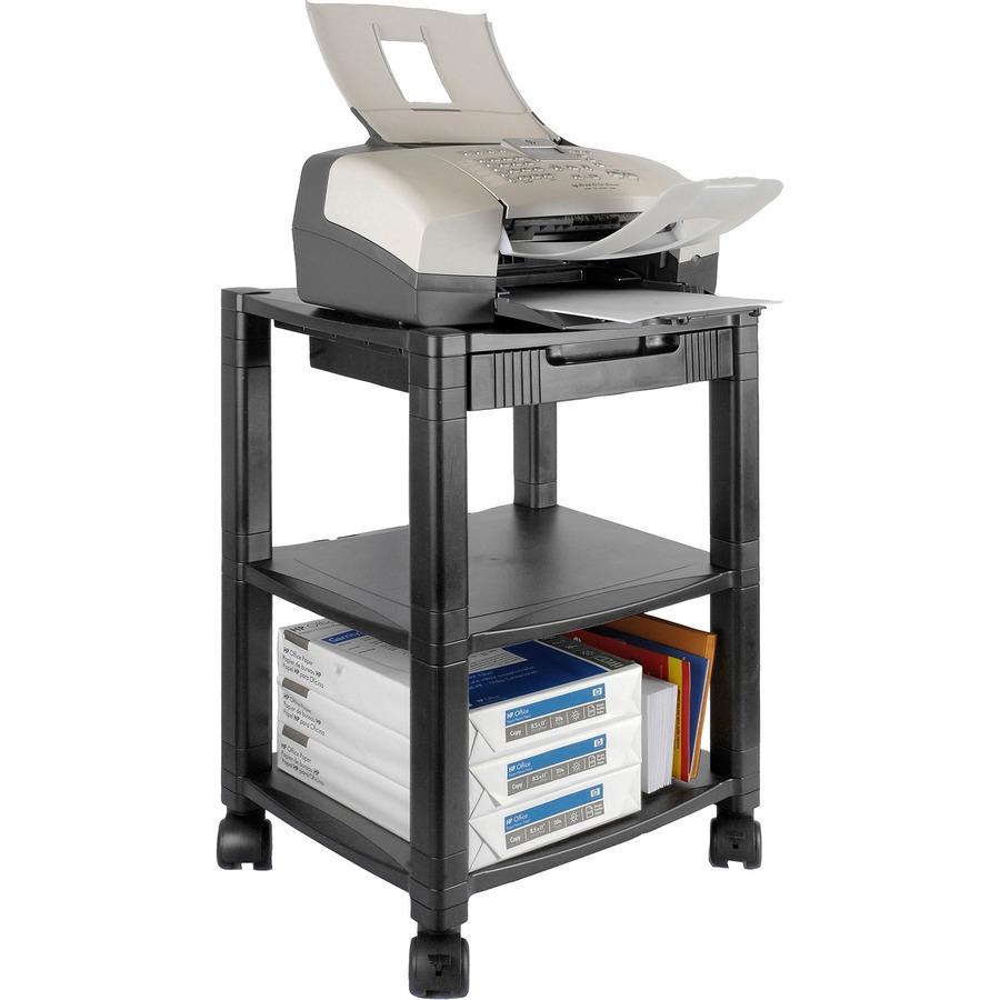 kantek threeshelf mobile printerfax stand ktkps540 - Printer Cart