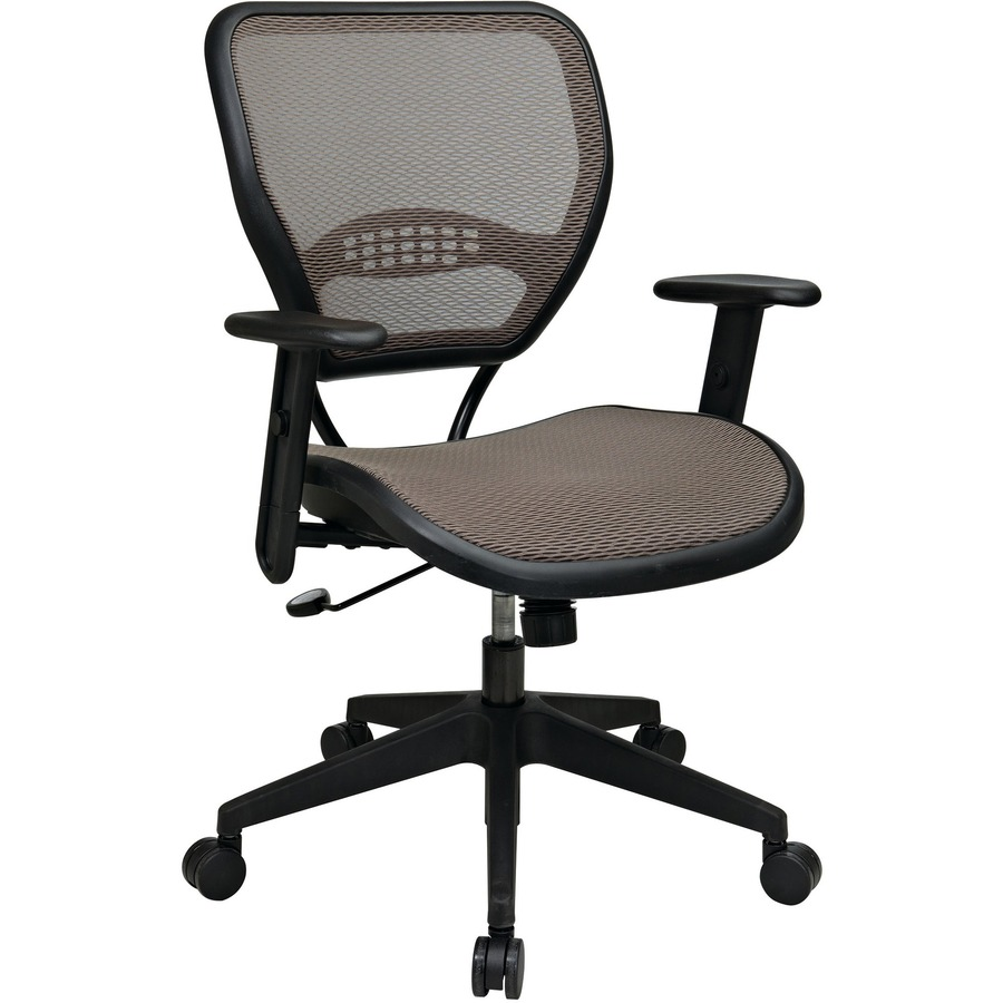 office star space latte air grid seat back deluxe task chair mac