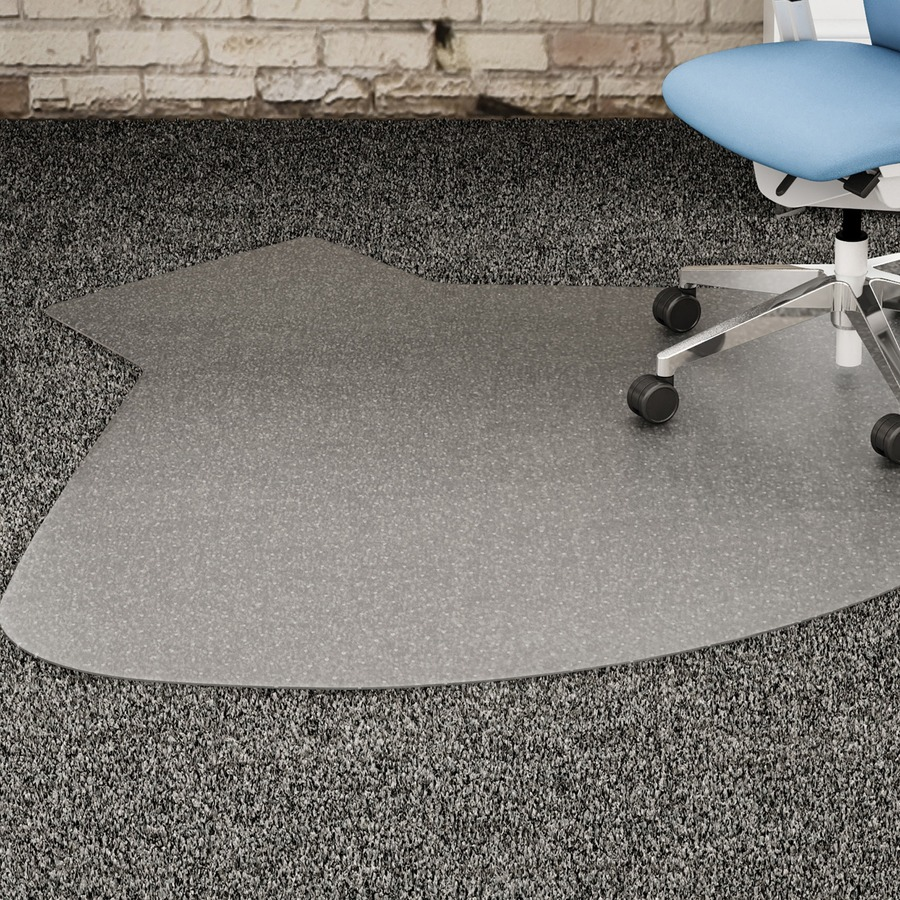 lorell l workstation medium pile chairmat carpeted floor 66 length