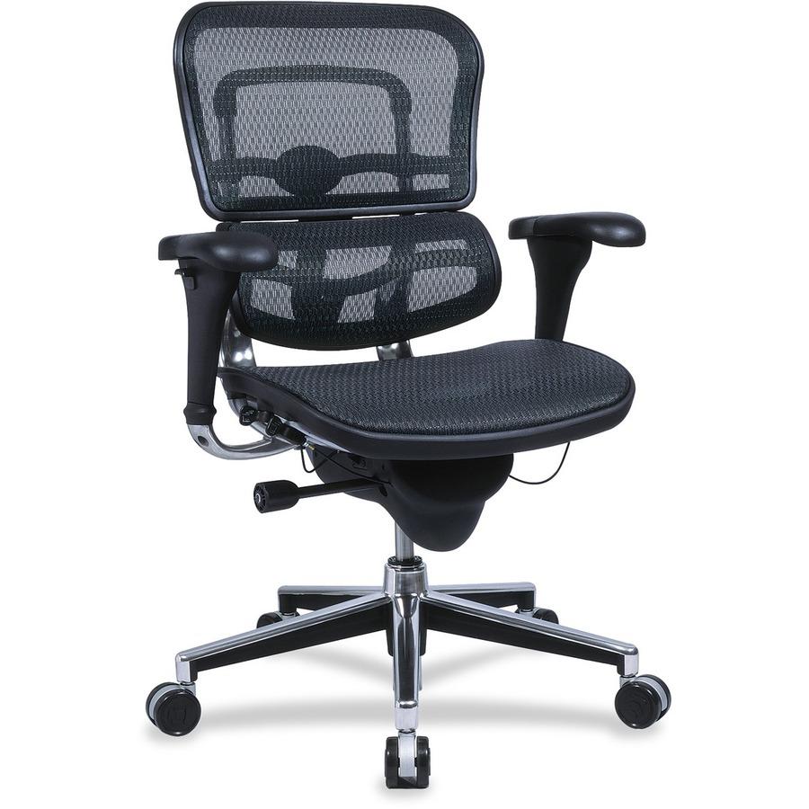 eutme8ergloblk eurotech ergohuman me8erglow091 mesh multifunction executive chair office. Black Bedroom Furniture Sets. Home Design Ideas