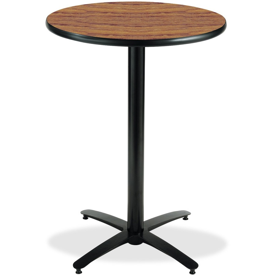 Counter Height Utility Table : Bar Height Pedestal Utility Table Round Top - Arch Base - 1.25