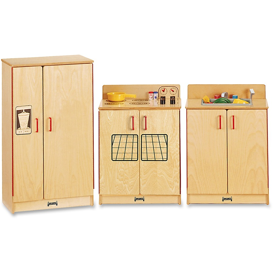 Jonti craft natural birch 3 pc play kitchen set for Kitchen set natural