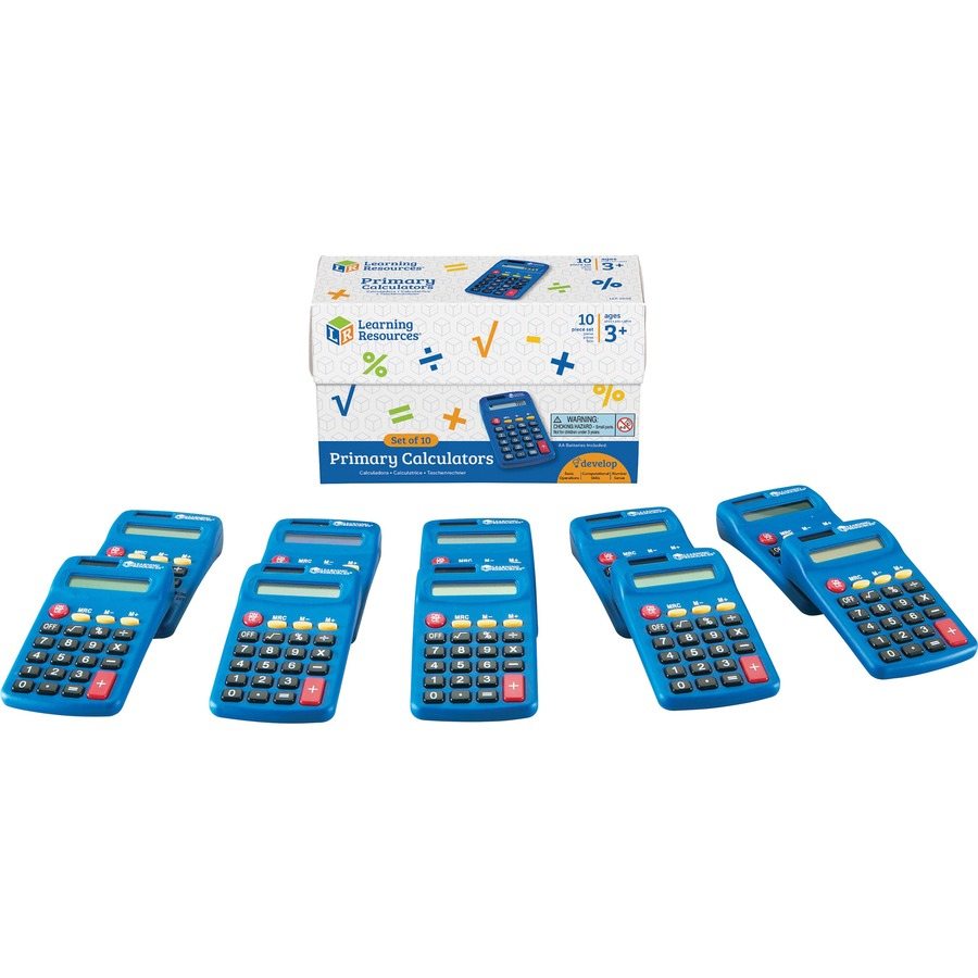 Learning Resources Primary Calculator Set 123 Office Solution