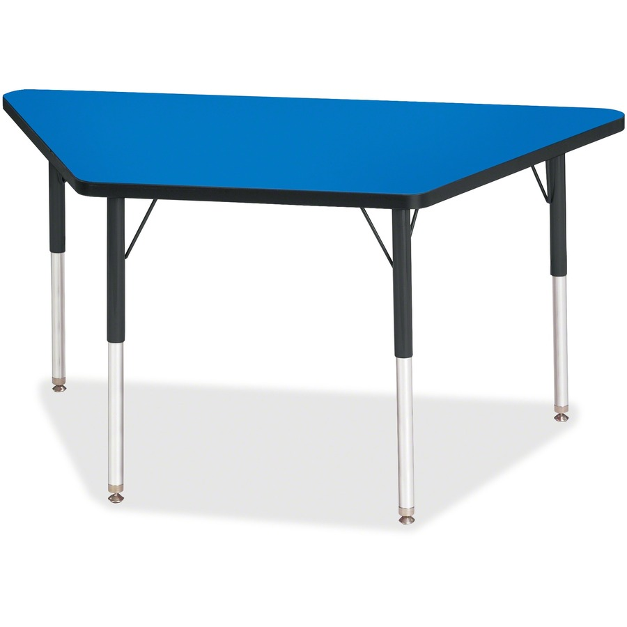 Berries adult height classic color trapezoid table for Trapazoid table