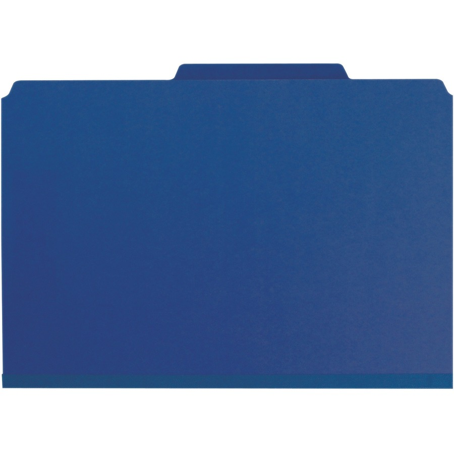 smead pressboard classification file folder with wallet divider and safeshield  fasteners  2